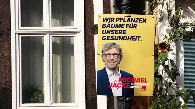 Michael Jäcke SPD Wahlplakat
